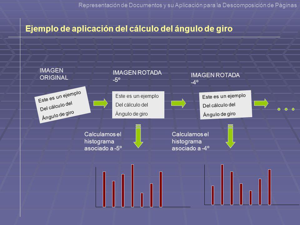 Ejemplo de aplicación del cálculo del ángulo de giro