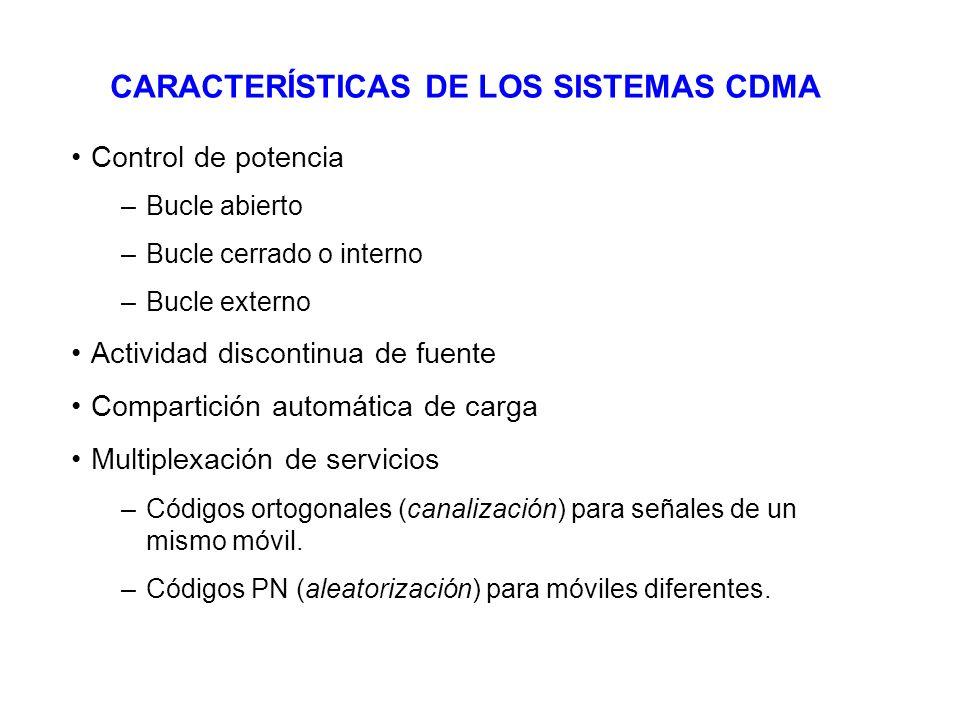 CARACTERÍSTICAS DE LOS SISTEMAS CDMA