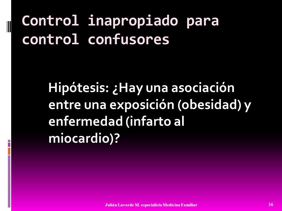 Control inapropiado para control confusores