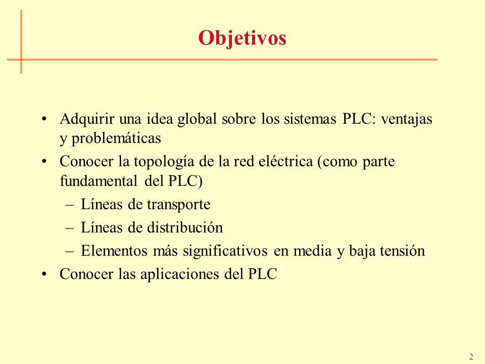 Objetivos Adquirir una idea global sobre los sistemas PLC: ventajas y problemáticas.
