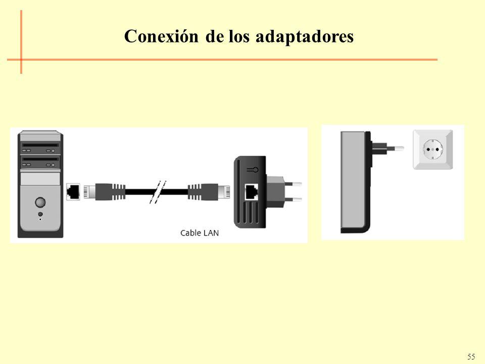 Conexión de los adaptadores