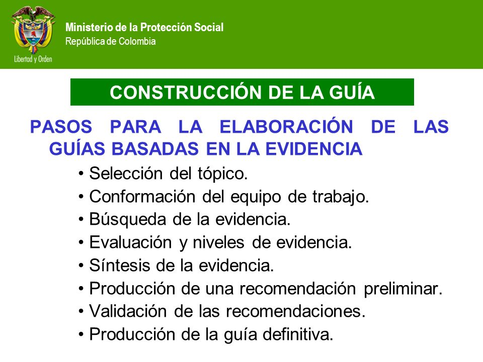 CONSTRUCCIÓN DE LA GUÍA