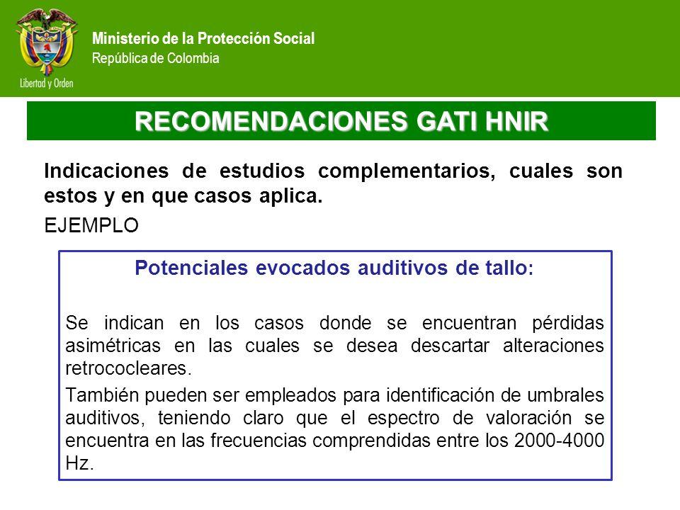 RECOMENDACIONES GATI HNIR