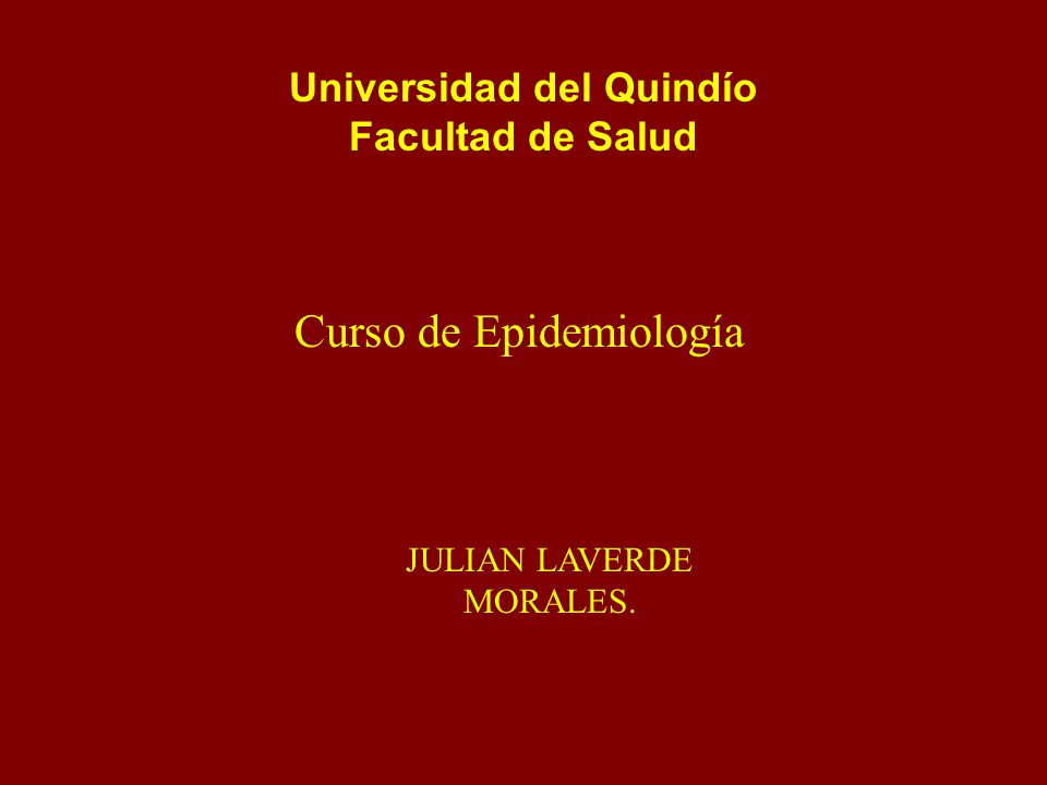 Universidad del Quindío Facultad de Salud