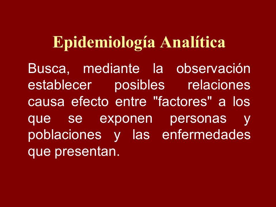 Epidemiología Analítica