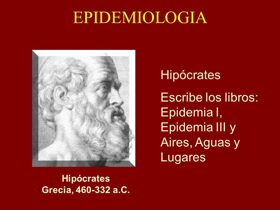 EPIDEMIOLOGIA Hipócrates