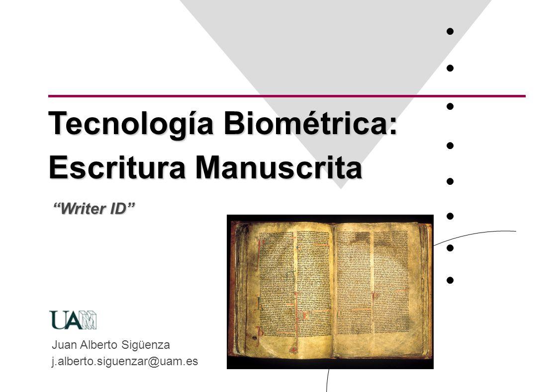 Tecnología Biométrica: Escritura Manuscrita