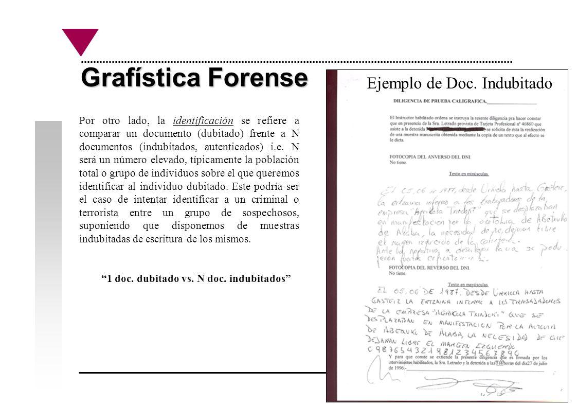 Grafística Forense Ejemplo de Doc. Indubitado