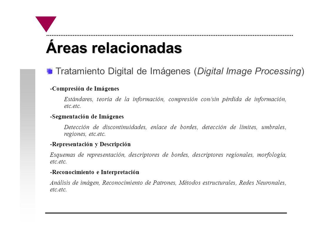 Áreas relacionadas Tratamiento Digital de Imágenes (Digital Image Processing) Compresión de Imágenes.