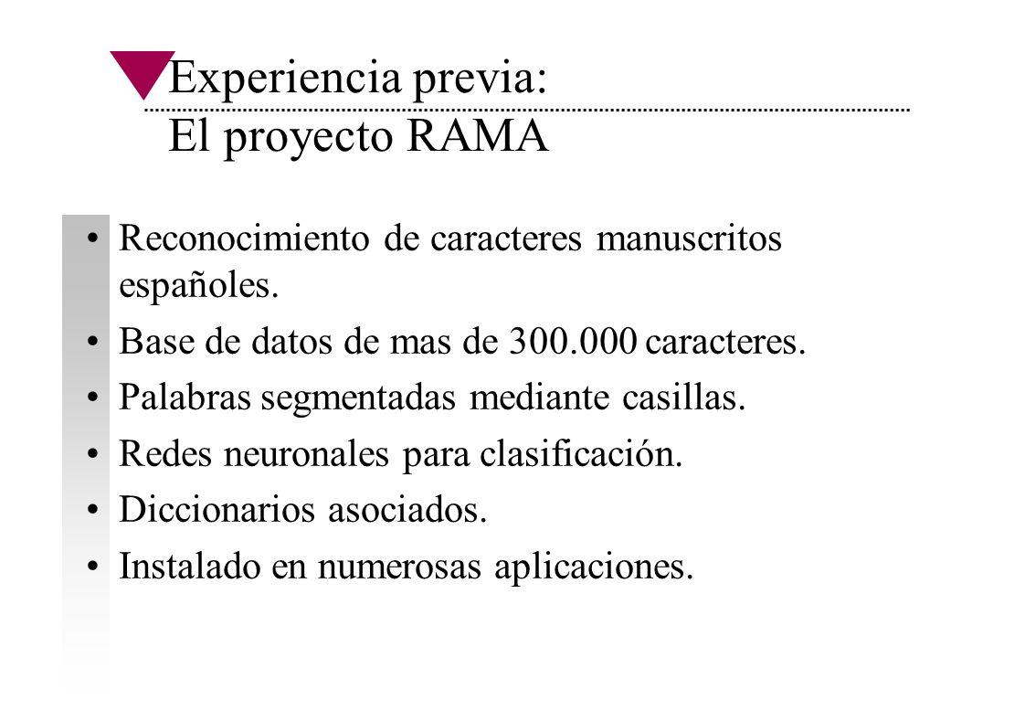 Experiencia previa: El proyecto RAMA