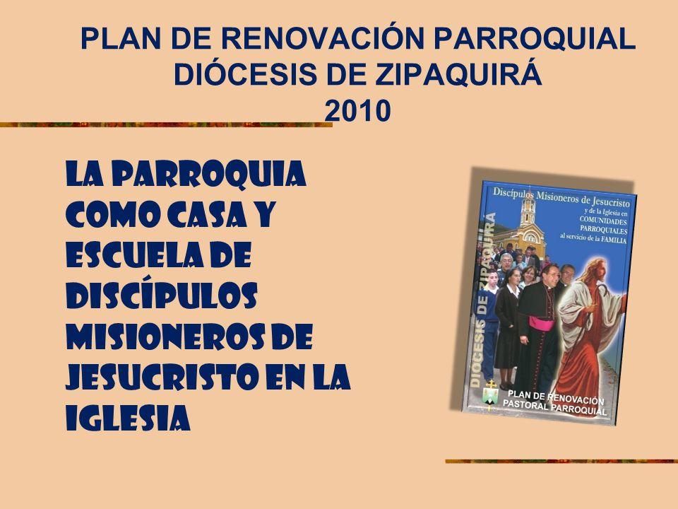 PLAN DE RENOVACIÓN PARROQUIAL DIÓCESIS DE ZIPAQUIRÁ 2010