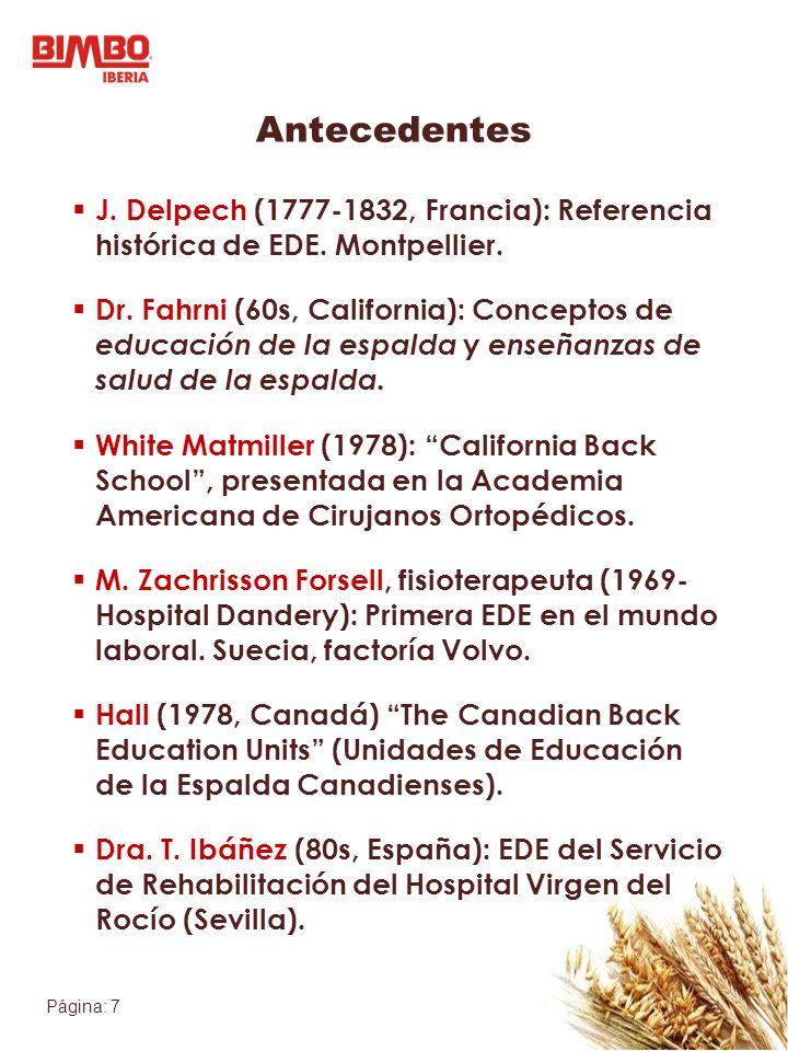 Antecedentes J. Delpech (1777-1832, Francia): Referencia histórica de EDE. Montpellier.