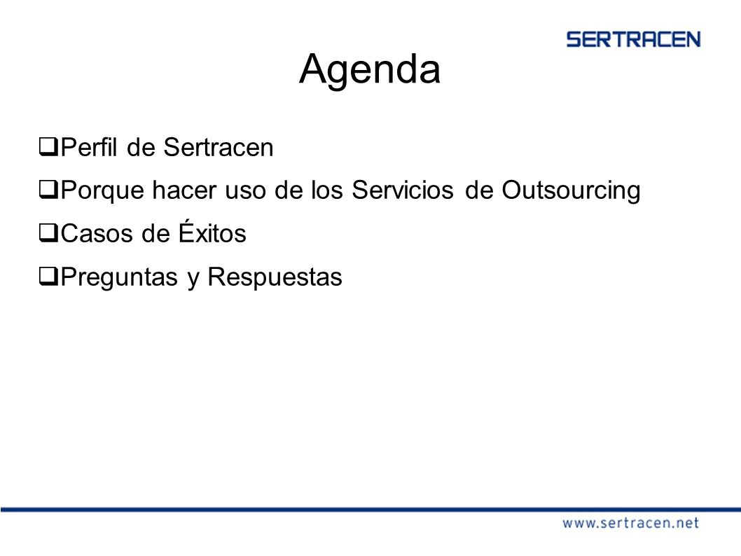 Agenda Perfil de Sertracen