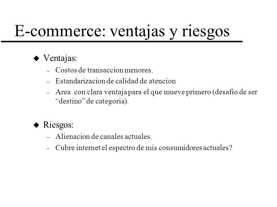 E-commerce: ventajas y riesgos