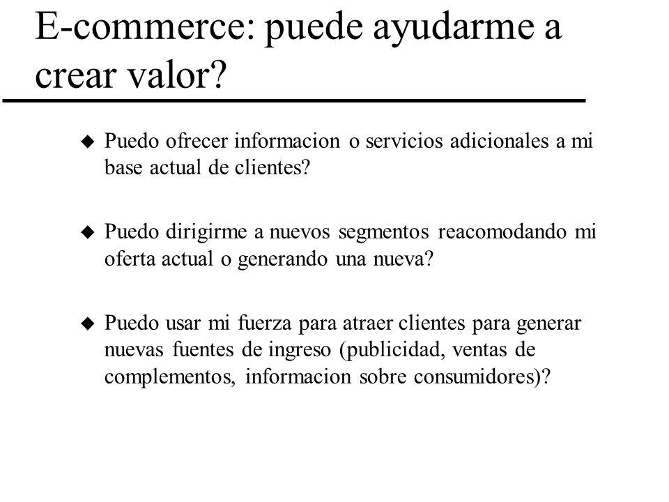 E-commerce: puede ayudarme a crear valor