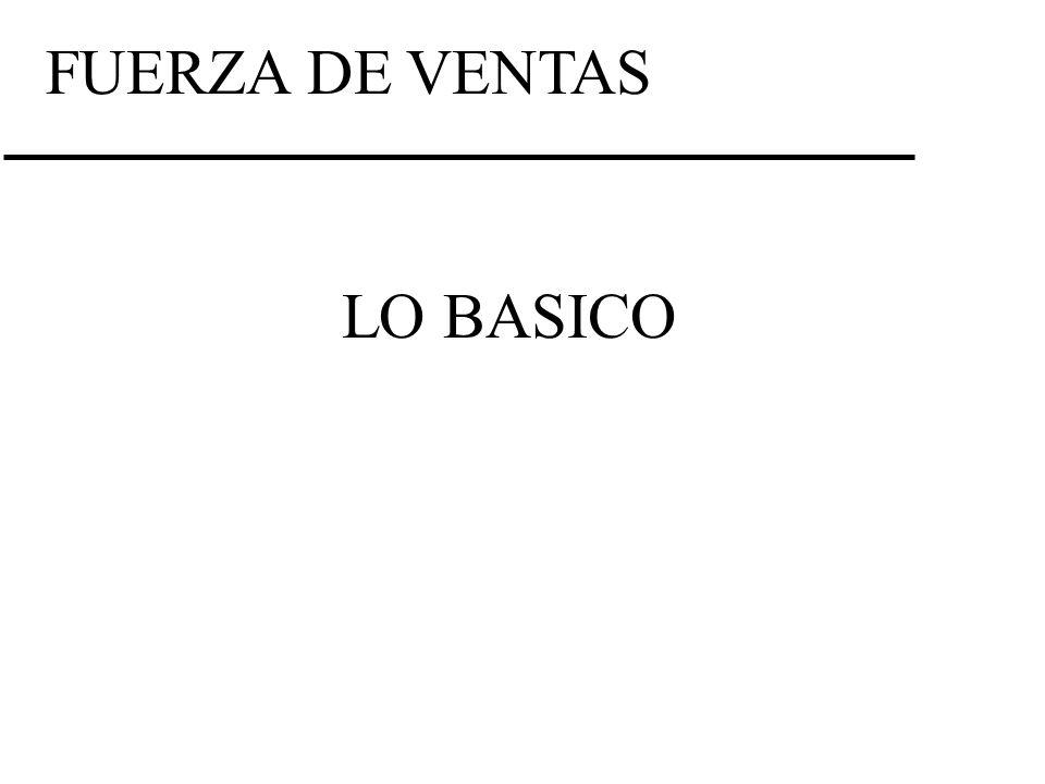 FUERZA DE VENTAS LO BASICO