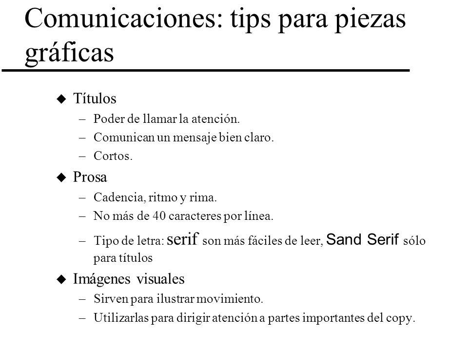 Comunicaciones: tips para piezas gráficas