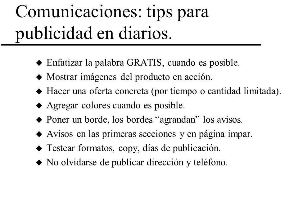 Comunicaciones: tips para publicidad en diarios.