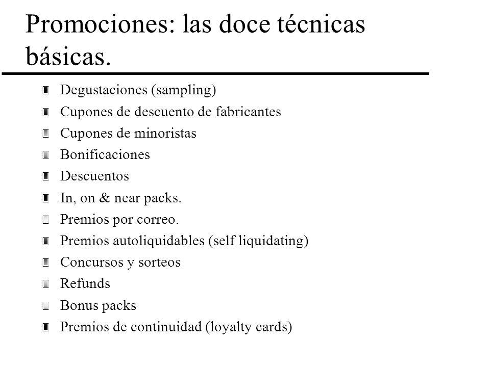 Promociones: las doce técnicas básicas.