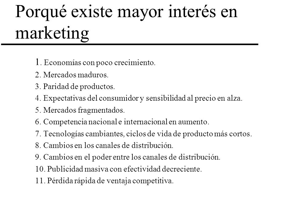 Porqué existe mayor interés en marketing