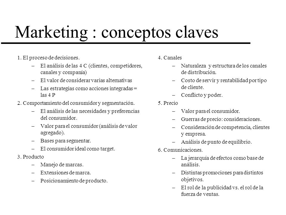 Marketing : conceptos claves