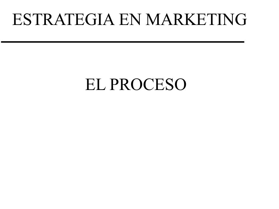 ESTRATEGIA EN MARKETING