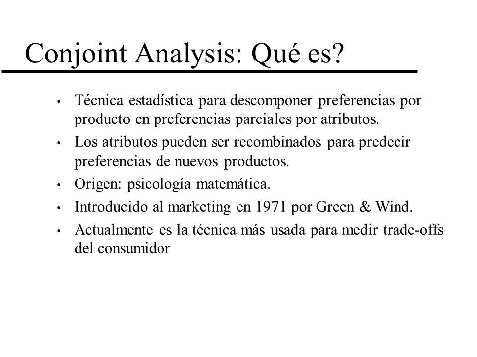 Conjoint Analysis: Qué es