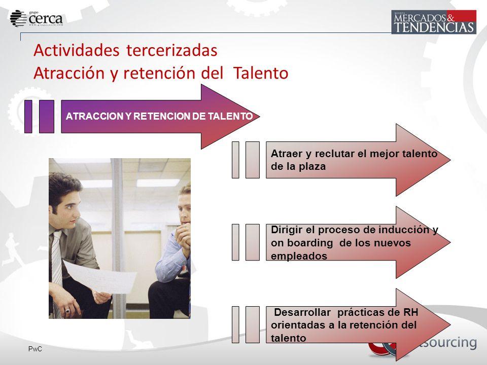 Actividades tercerizadas Atracción y retención del Talento