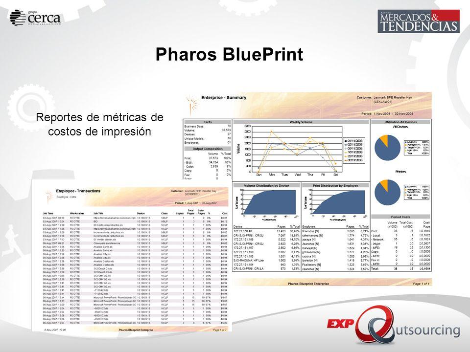 Reportes de métricas de costos de impresión