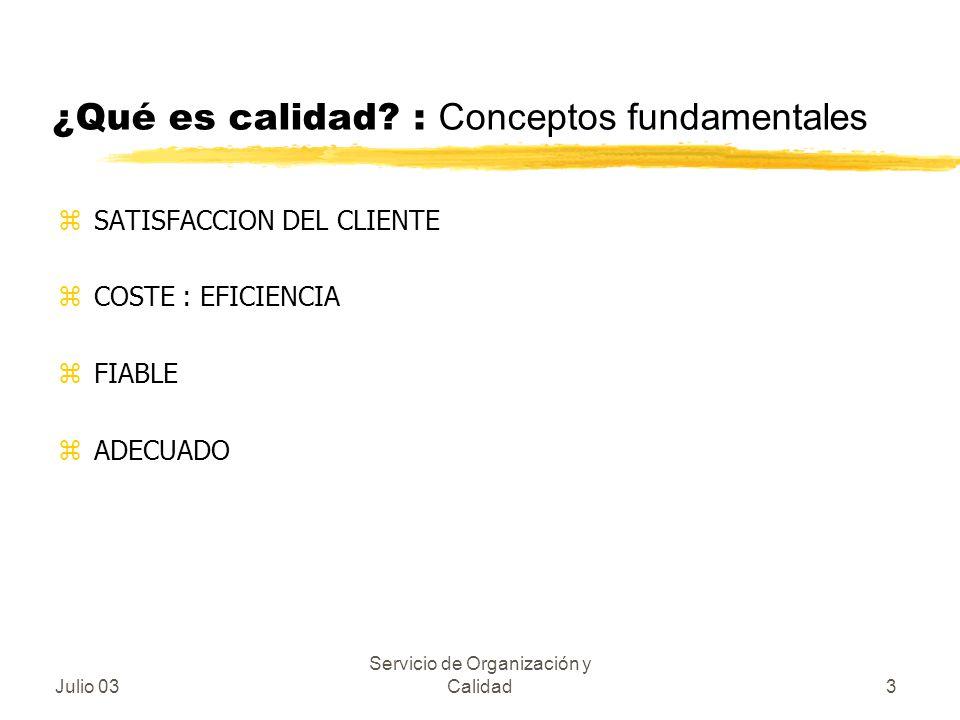 ¿Qué es calidad : Conceptos fundamentales