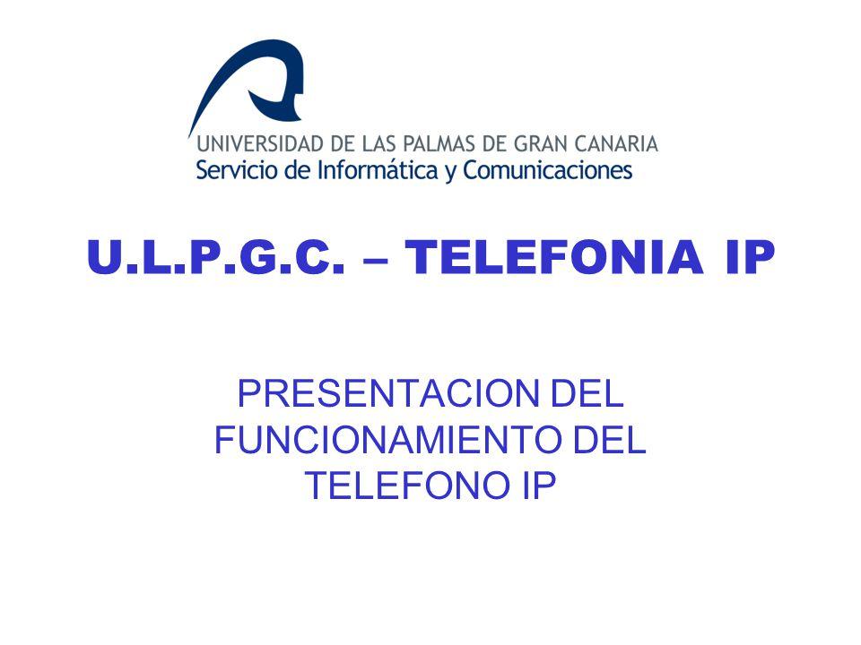 PRESENTACION DEL FUNCIONAMIENTO DEL TELEFONO IP