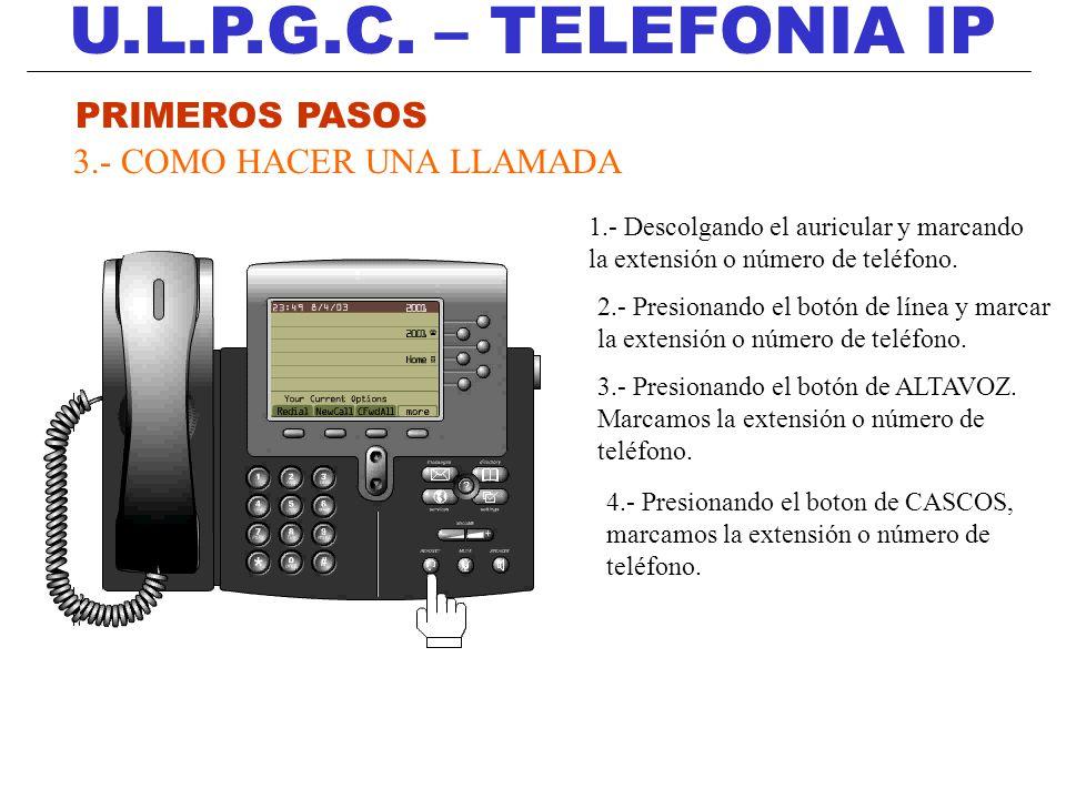 U.L.P.G.C. – TELEFONIA IP PRIMEROS PASOS 3.- COMO HACER UNA LLAMADA