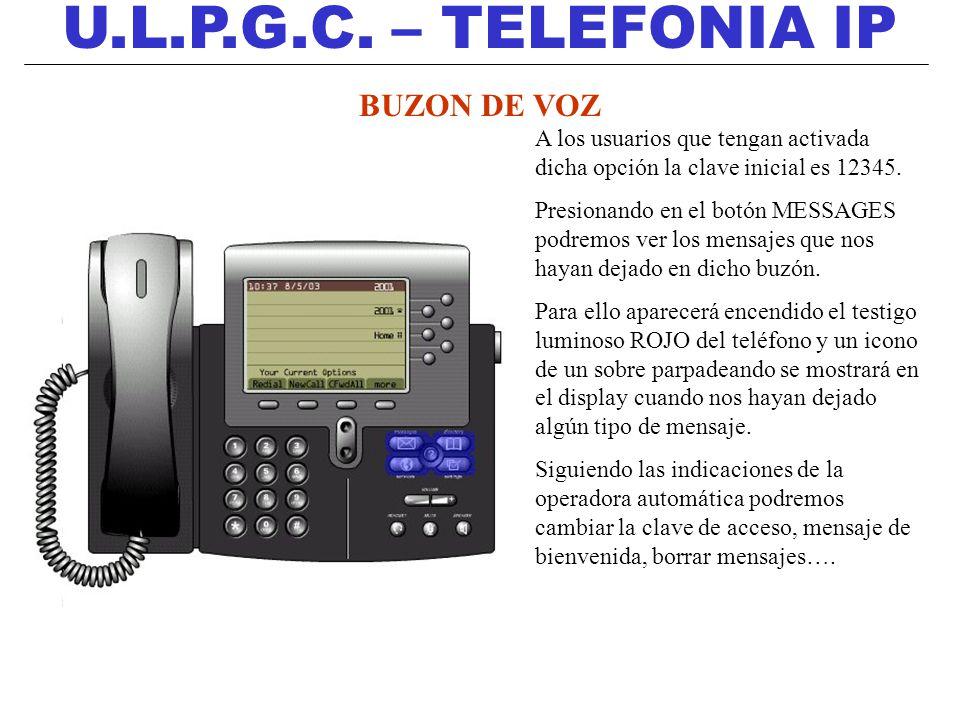 U.L.P.G.C. – TELEFONIA IP BUZON DE VOZ