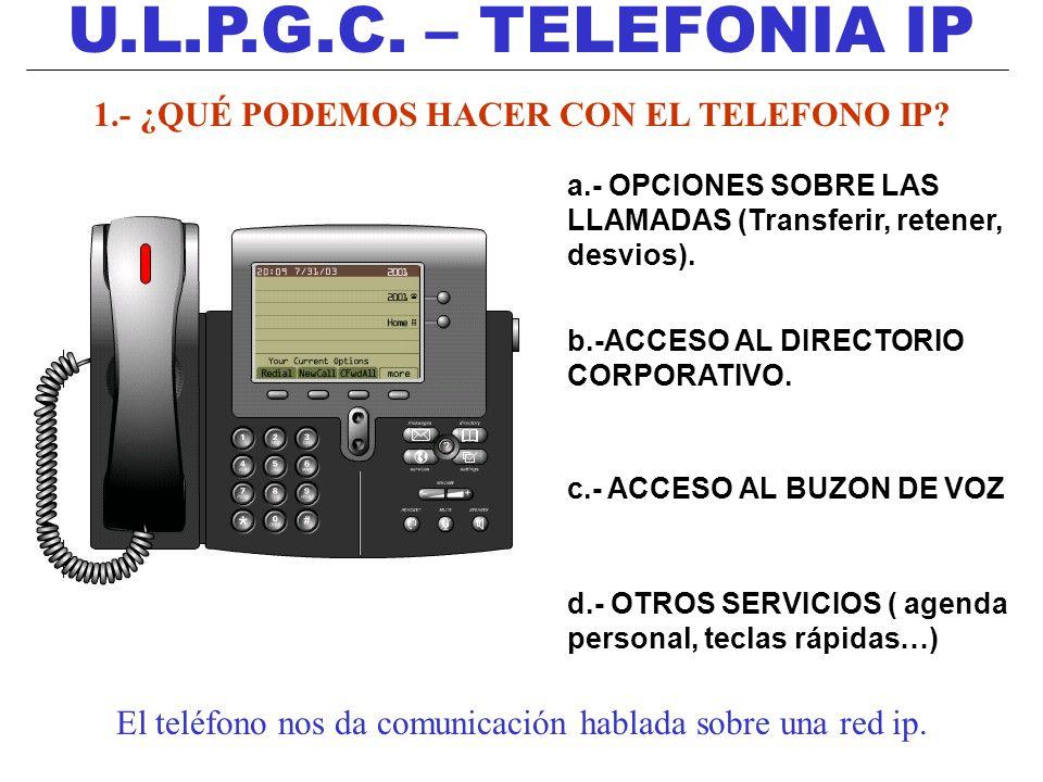 1.- ¿QUÉ PODEMOS HACER CON EL TELEFONO IP