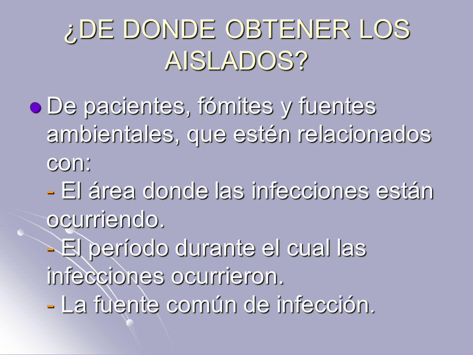 ¿DE DONDE OBTENER LOS AISLADOS