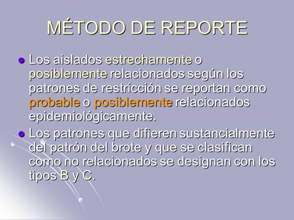 MÉTODO DE REPORTE