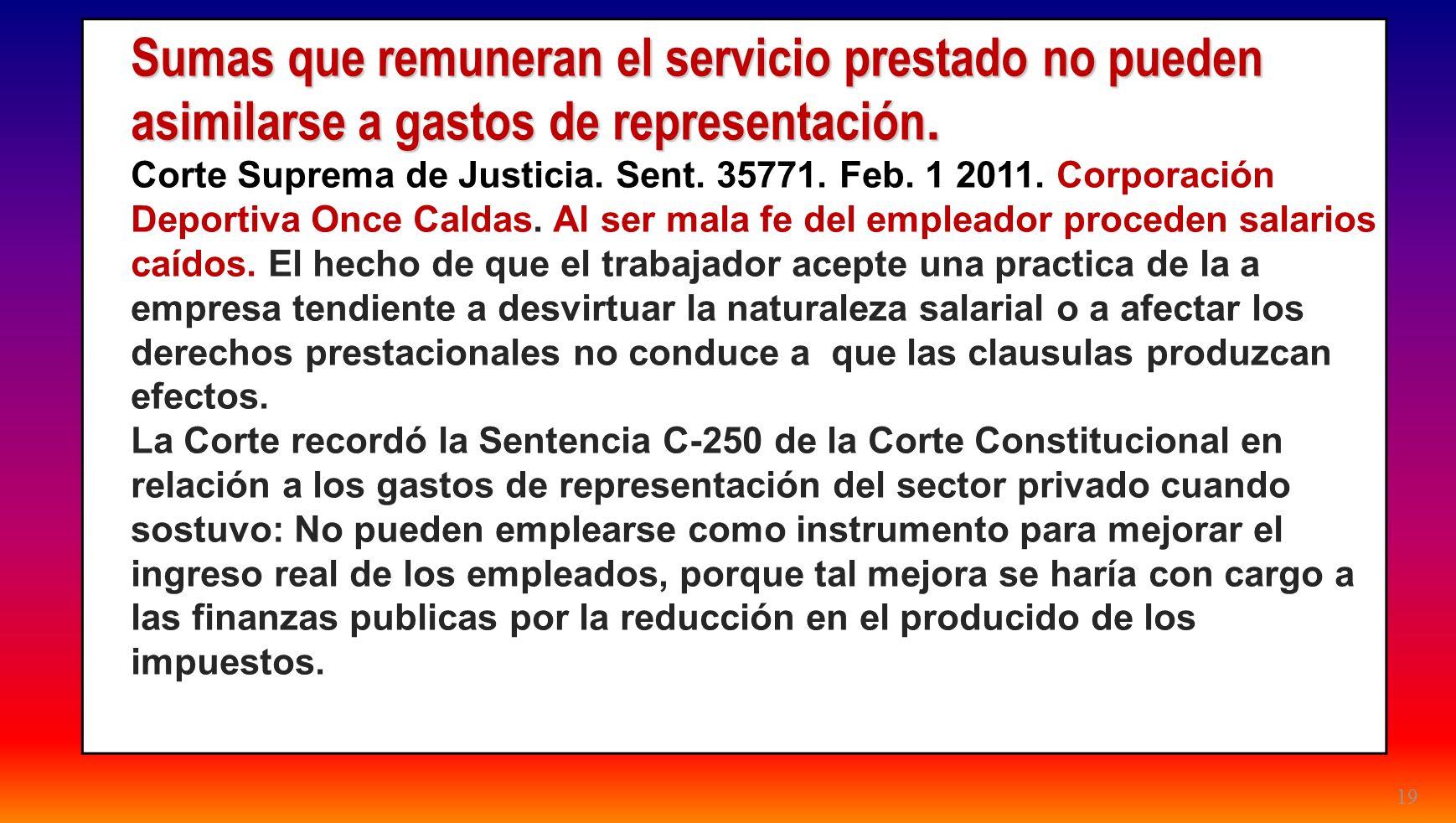 24/03/2017Sumas que remuneran el servicio prestado no pueden asimilarse a gastos de representación.