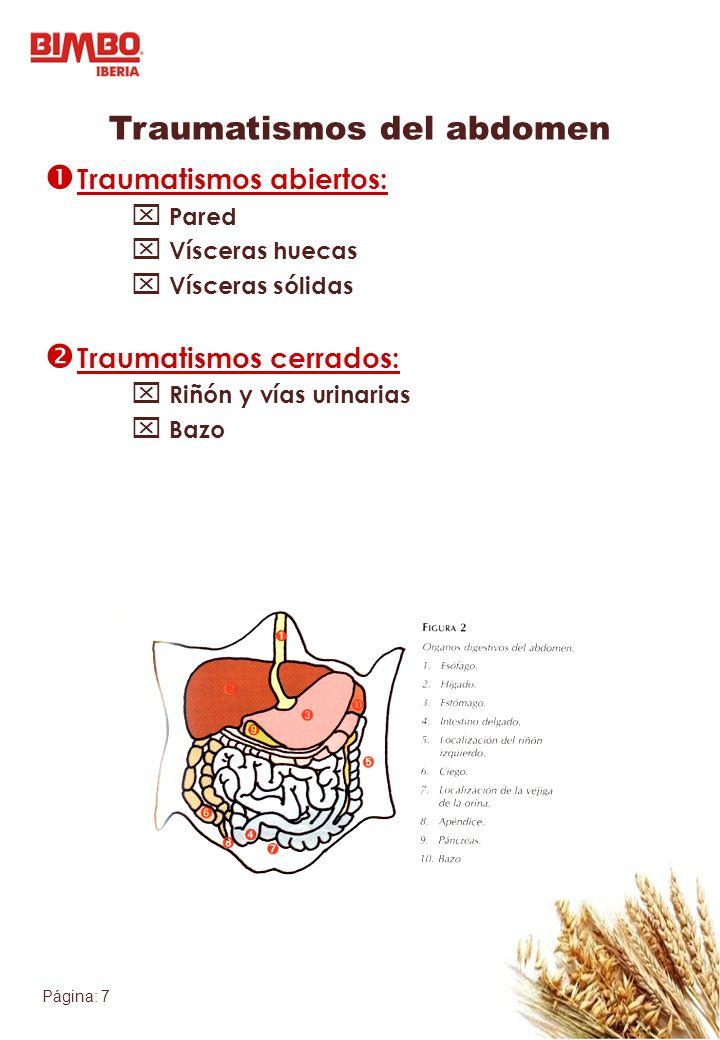 Traumatismos del abdomen