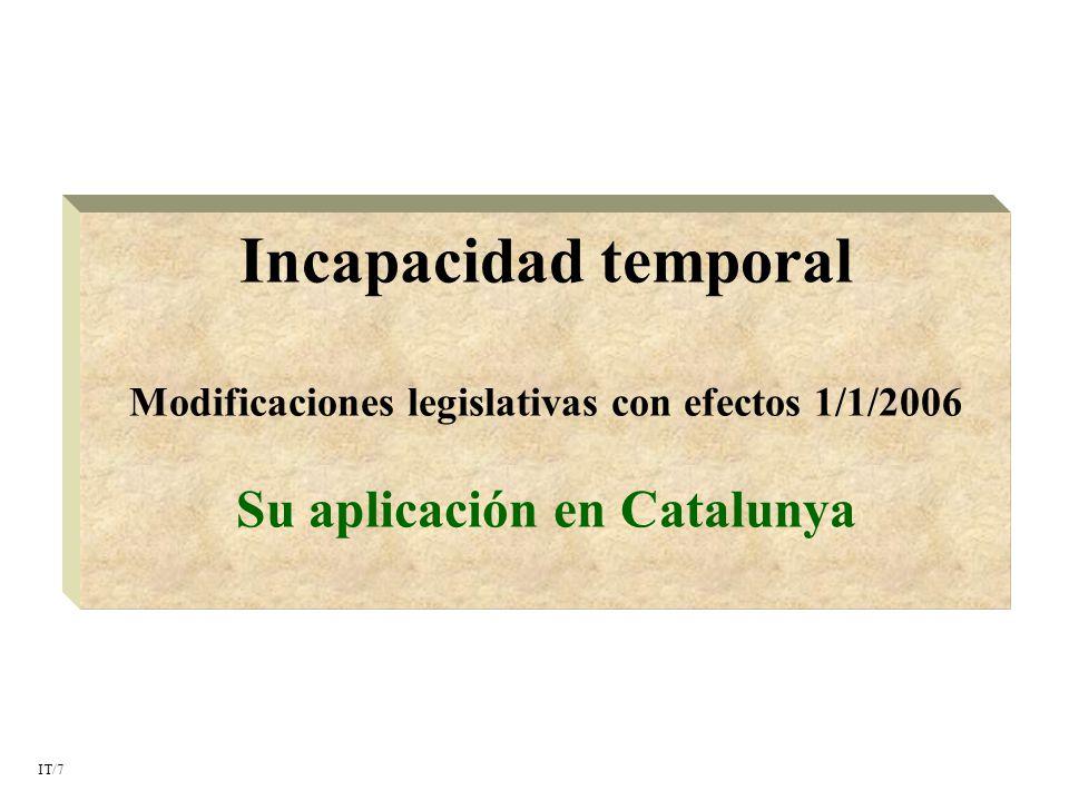 Incapacidad temporal Su aplicación en Catalunya
