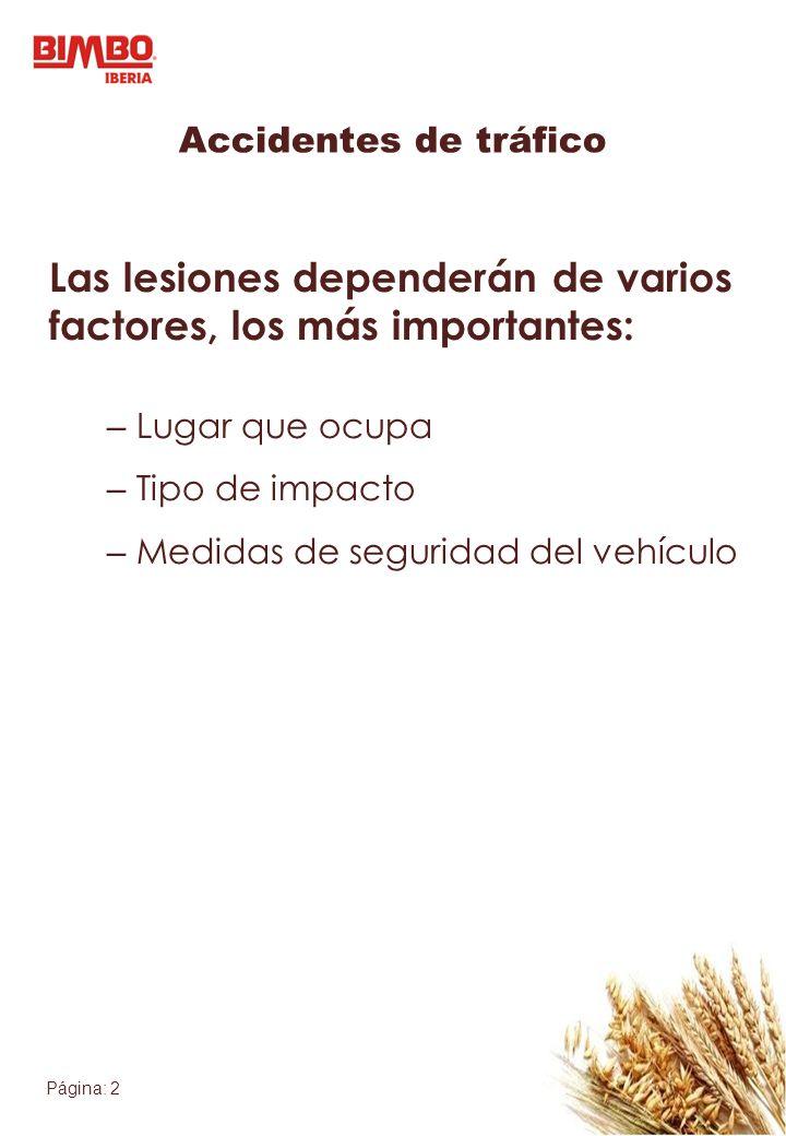 Las lesiones dependerán de varios factores, los más importantes: