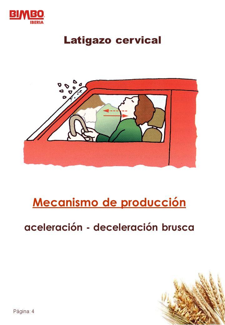 Mecanismo de producción aceleración - deceleración brusca