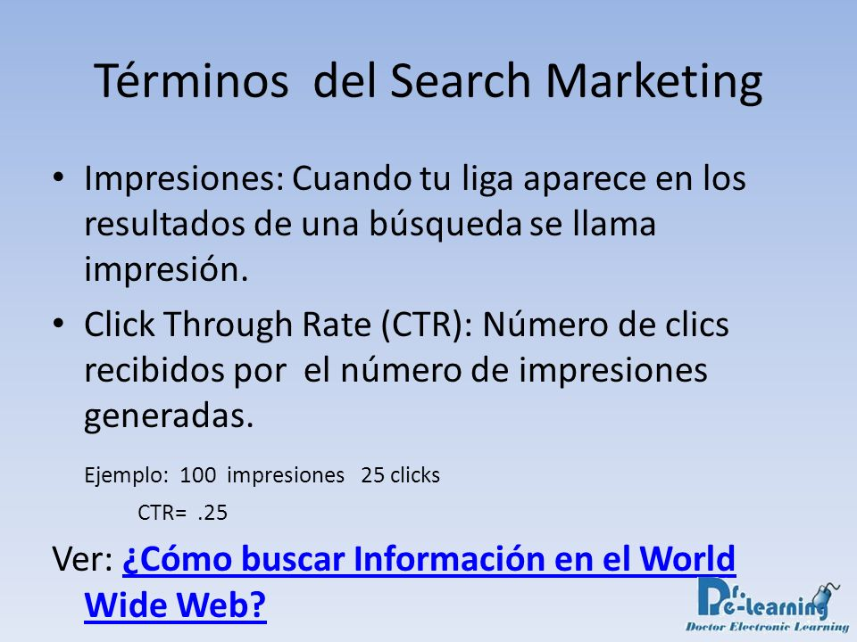 Términos del Search Marketing