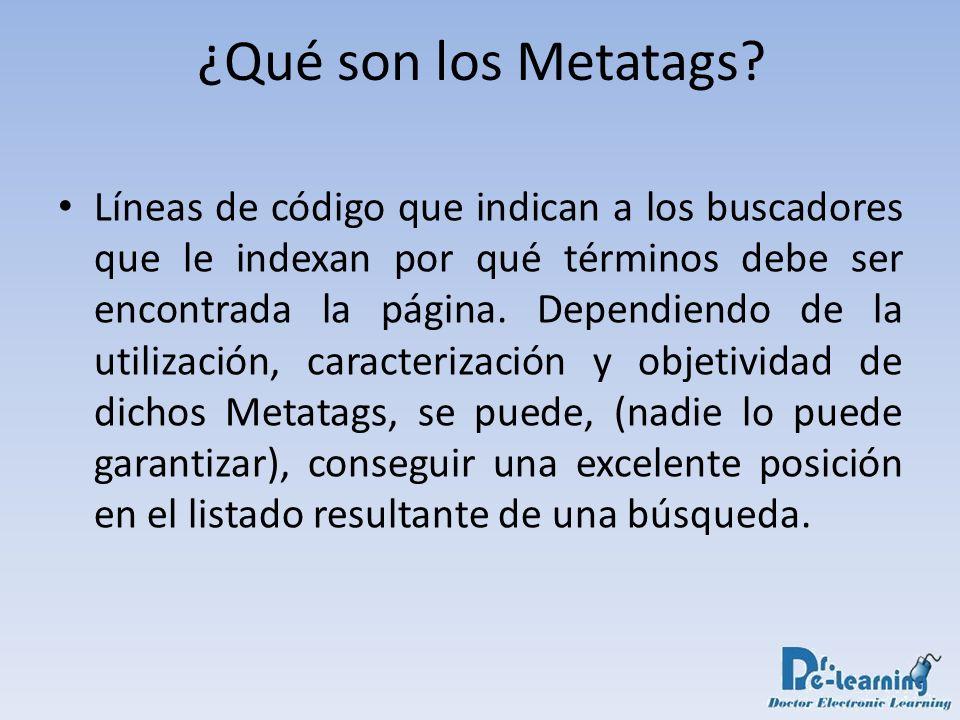 ¿Qué son los Metatags