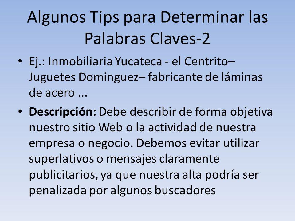 Algunos Tips para Determinar las Palabras Claves-2