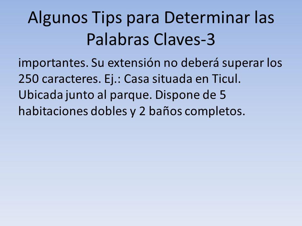 Algunos Tips para Determinar las Palabras Claves-3