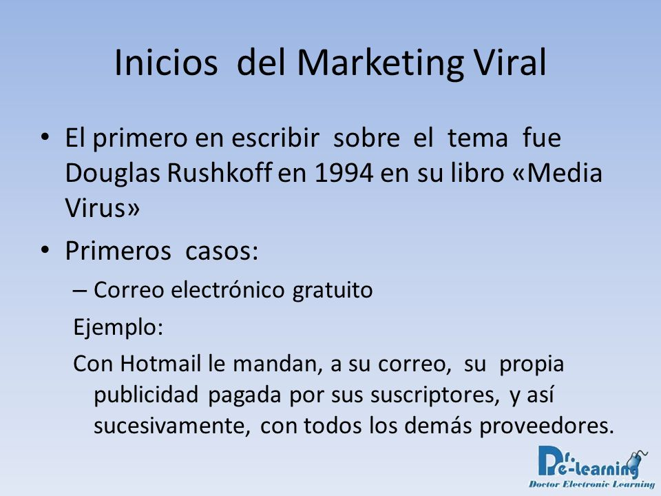 Inicios del Marketing Viral