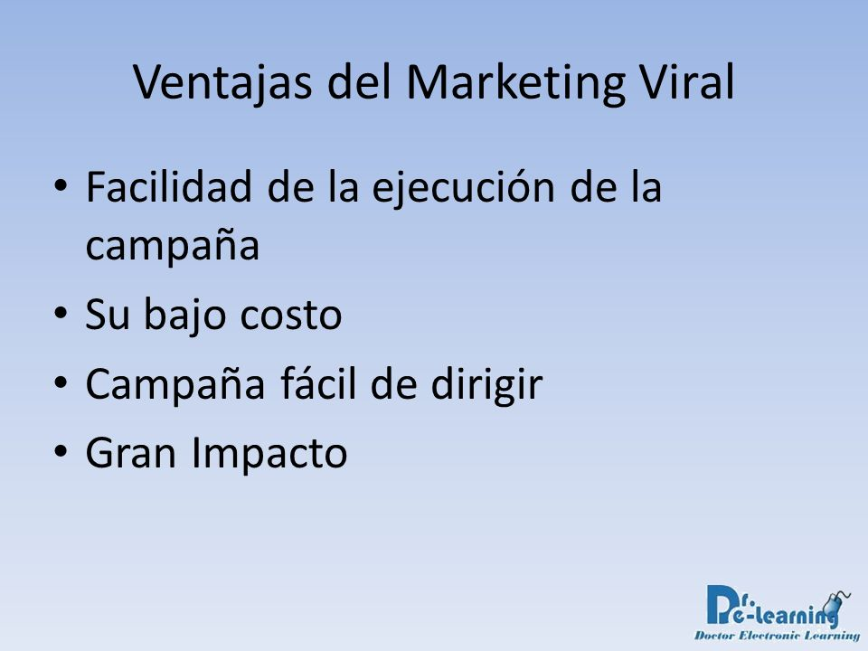 Ventajas del Marketing Viral