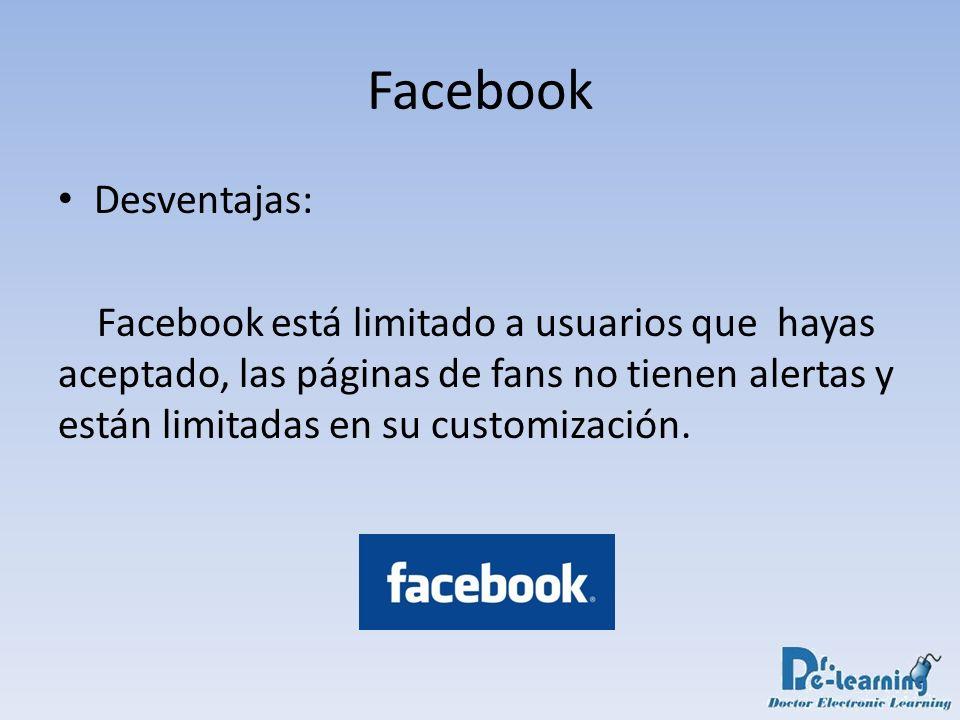 Facebook Desventajas: