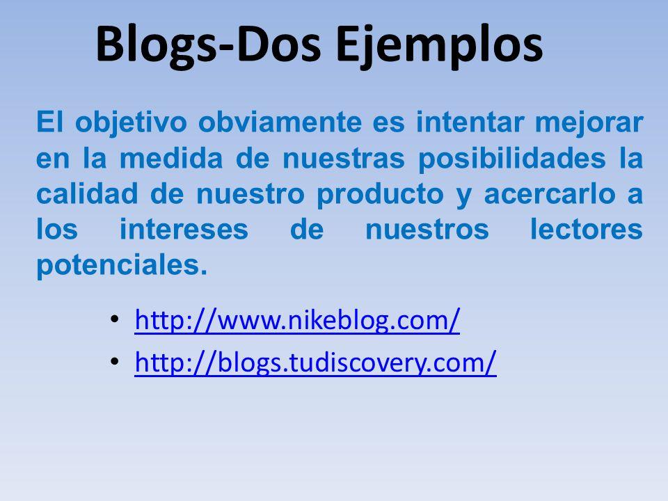 Blogs-Dos Ejemplos
