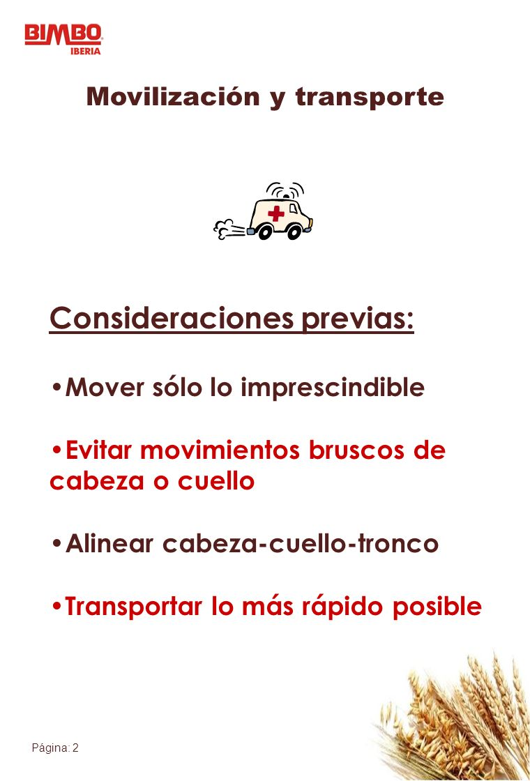 Movilización y transporte